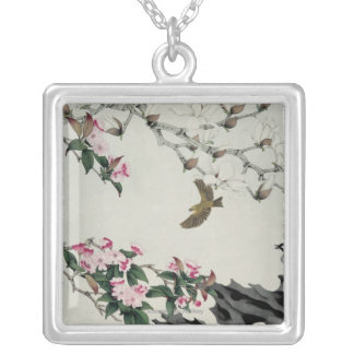 Spring Flowers Silver Plated Necklace