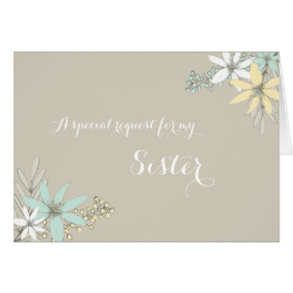 Spring Flowers Sister Bridesmaid Invitation