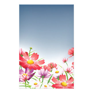 Spring Flowers Stationary Stationery