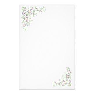 Spring Flowers Stationery Design