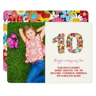 Th Birthday Invitations Announcements Zazzlecouk - Birthday invitation cards 10 years