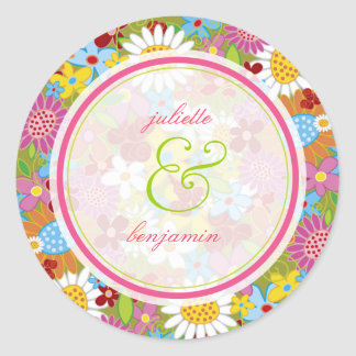 Spring Flowers Thank You / Gift Label Sticker