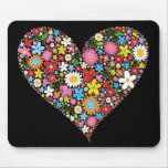 Spring Flowers Valentine Heart Love Fun Mousepad