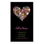 Spring Flowers Valentine Heart Love Profile Card Pack Of Standard Business Cards