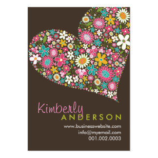 Spring Flowers Valentine Love Heart Profile Card Business Cards