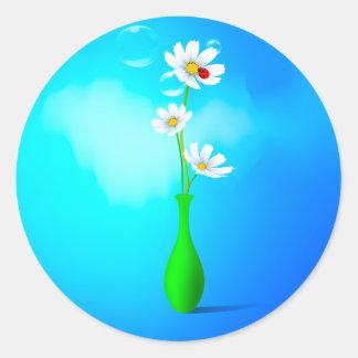 Spring Flowers Vase Sticker