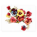 Spring Flowers Vintage Postcard