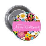 Spring Flowers Wedding Junior Bridesmaid Name Tag Badge