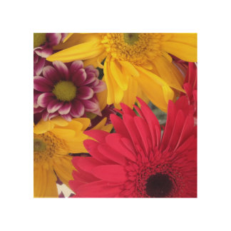 Spring Flowers Wood Canvases