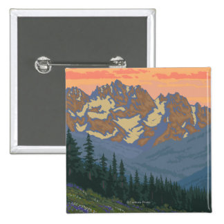Spring Flowers - Yellowstone National Park 15 Cm Square Badge