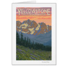 Spring Flowers - Yellowstone National Park Card