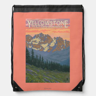 Spring Flowers - Yellowstone National Park Drawstring Bag