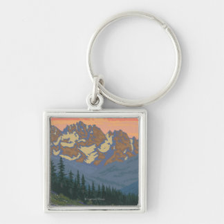 Spring Flowers - Yellowstone National Park Key Ring