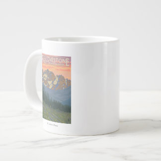 Spring Flowers - Yellowstone National Park Large Coffee Mug