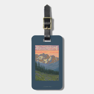 Spring Flowers - Yellowstone National Park Luggage Tag