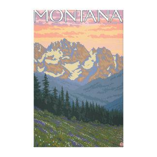 Spring FlowersMontanaVintage Travel Poster Canvas Prints