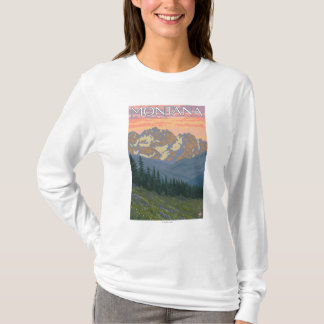 Spring FlowersMontanaVintage Travel Poster T-Shirt