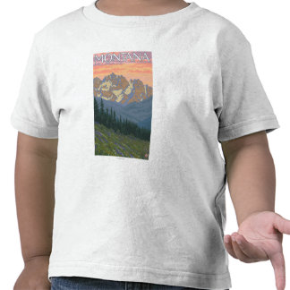 Spring FlowersMontanaVintage Travel Poster T Shirt