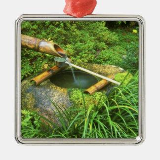 Spring for Tea Ceremony, Sanzen-in Temple, Silver-Colored Square Decoration
