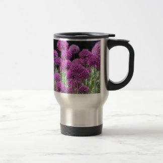 Spring Forest Purple Flowers of Garlic Stainless Steel Travel Mug