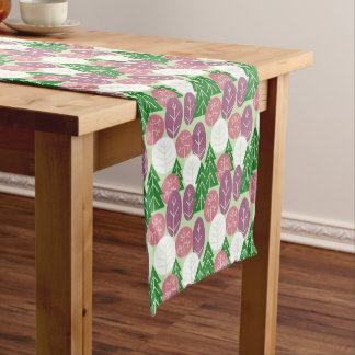 Spring Forest Trees Outdoors Pink Springtime Woods Short Table Runner