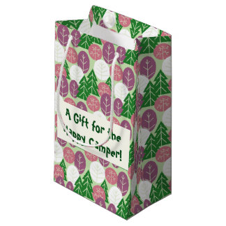 Spring Forest Trees Outdoors Pink Springtime Woods Small Gift Bag