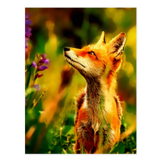 Spring Fox Postcard