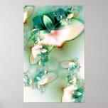 Spring - Fractal Flower Shape Posters