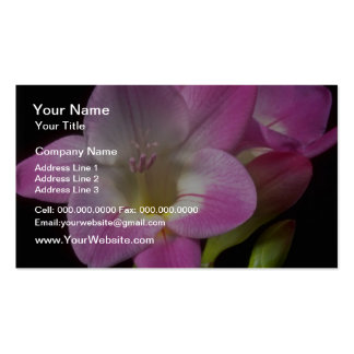 Spring freesia flowers pack of standard business cards