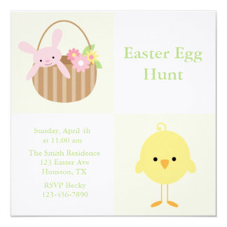 Spring Friends Easter Egg Hunt Invitiations 13 Cm X 13 Cm Square Invitation Card