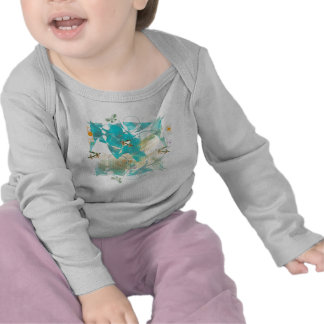 Spring: FROGS [infant - long sleeve] (white) Tshirt