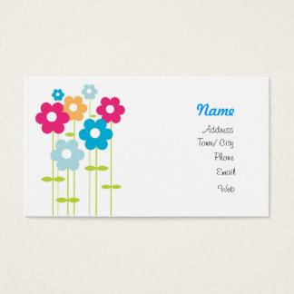 Spring garden business card