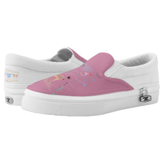Spring Garden Butterflies Slip On-Shoes US-Women Printed Shoes