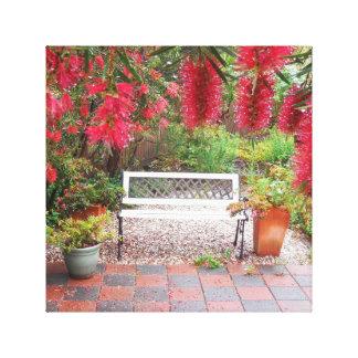 Spring Garden Stretched Canvas Print
