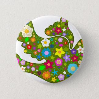 Spring Garden Dove 6 Cm Round Badge