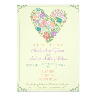 Spring Garden Flower Wedding Invitation