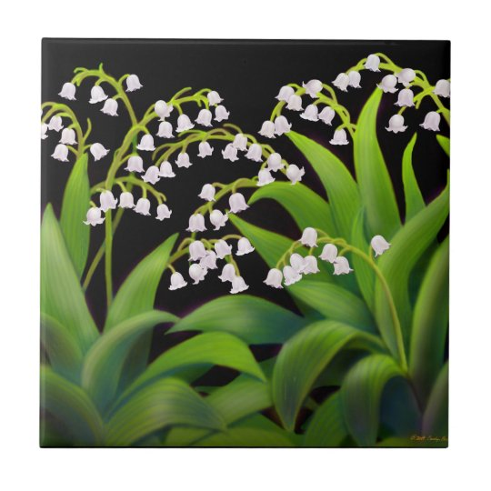 Spring Garden Lily of the Valley Flowers Tile