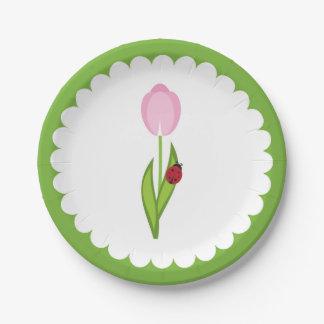 Spring Garden Paper Plates- Ladybug Paper Plates