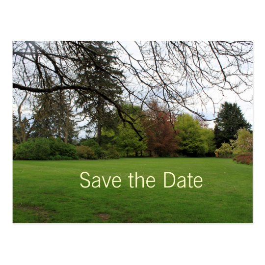 Spring garden save the date postcard