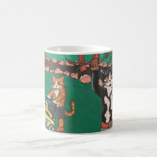 Spring Gardening Cats Coffee Mug