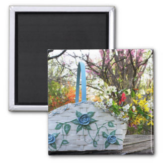 Spring Gathering Square Magnet