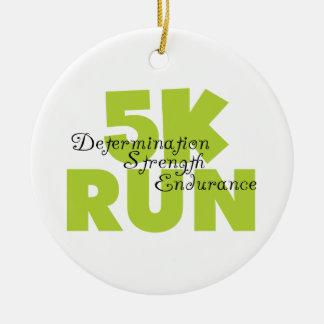 Spring Green 5K Run Christmas Ornament