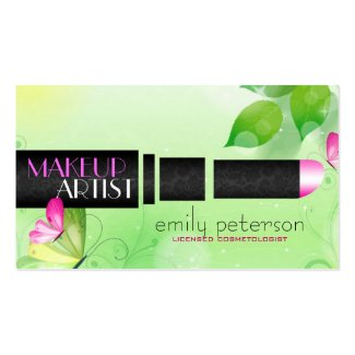 Spring Green Background With Black Beauty Symbol Pack Of Standard Business Cards