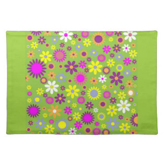 Spring Green Floral Dinner Placemat