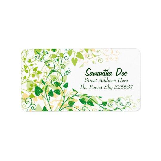 Spring Green Floral label