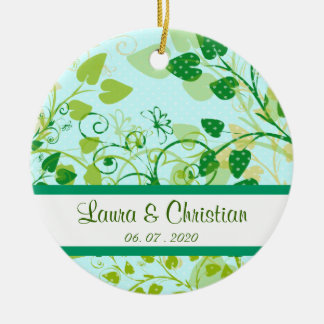 Spring Green Floral wedding ornament