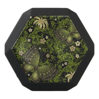 Spring Green-gold Pattern Black Bluetooth Speaker