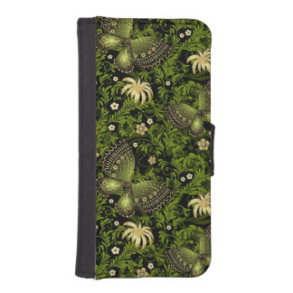 Spring Green-gold Pattern iPhone SE/5/5s Wallet Case