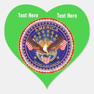 Spring Green Heart Sticker