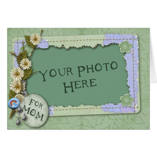 Spring Green Mother´s Day Template Card